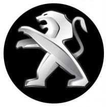 3D Car Logo - PEUGEOT - Ø 50 mm