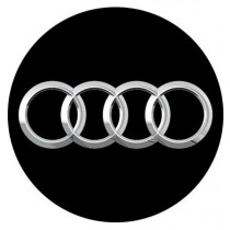 3D Car Logo - AUDI - Ø 50 mm