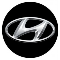 3D Car Logo - HYUNDAI - Ø 50 mm