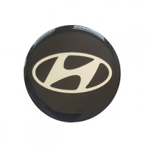 3D Car Logo - HYUNDAI - Ø 55 mm