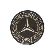 3D Car Logo - MERCEDES- Ø 55 mm